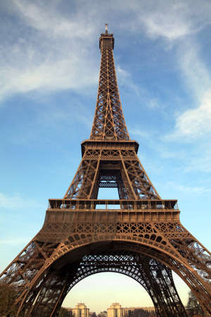 Closeup Eiffel Tower