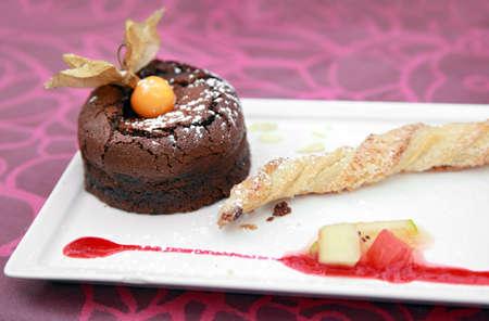 Mini Chocolate Cake Stock Photo