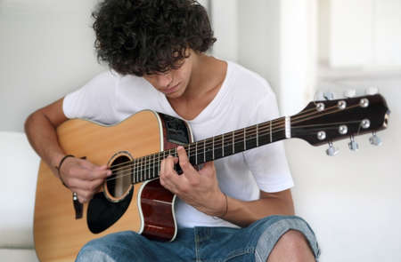 Teenage Guitarist Closeup