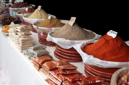 Oriental Spices for sale Stockfoto
