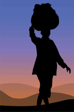Pregnant African Woman Silhouette