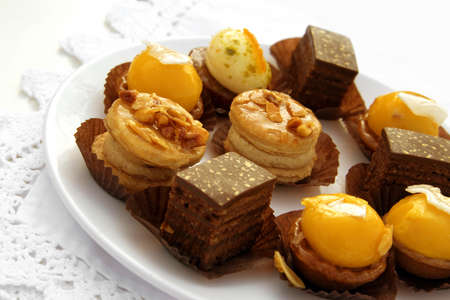 Petits Fours Stock Photo