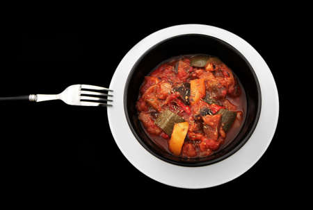 Ratatouille (Mediterranean vegetable stew) Stock Photo