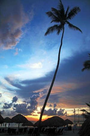 Caribbean Sunrise, Dominican Republic Stock Photo