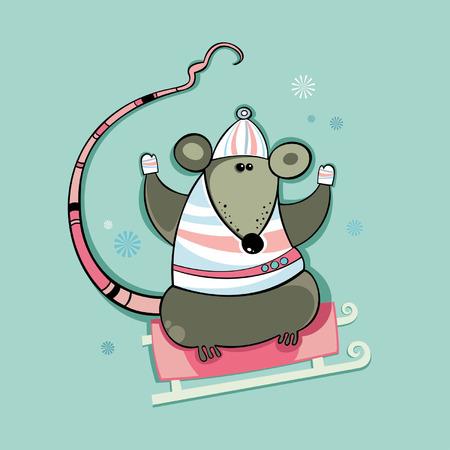 rata caricatura: Rata de invierno. A�o de la Rata.