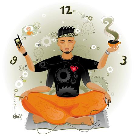 Modern Meditation Stock Vector - 4747705