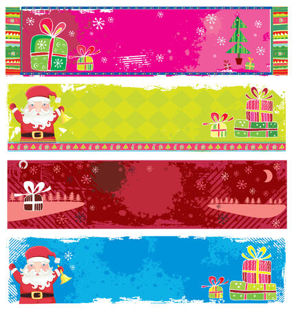 cute christmas: Cute Christmas banners.  Illustration