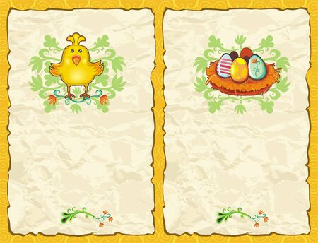 Easter textured backgrounds Vector