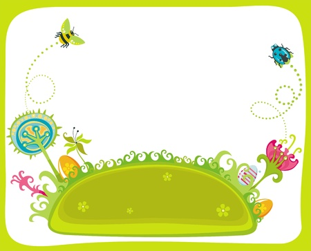 cute bee: Happy  spring holidays!
