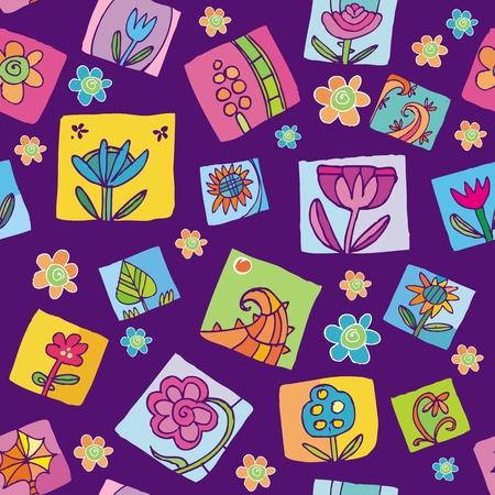 Patr�n transparente floral Vectores