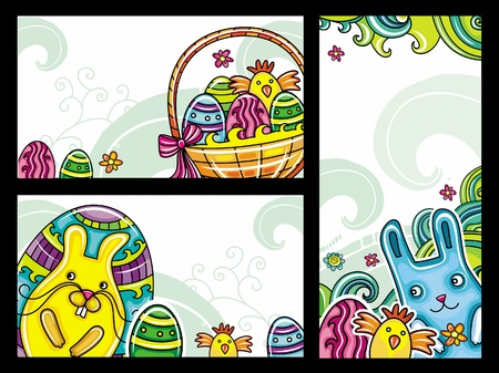 Decorative Easter floral banners 2 collection from floral series  Vector