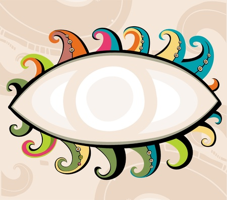 opened eye: Decorative eye