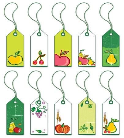 Fruity  tags Vector