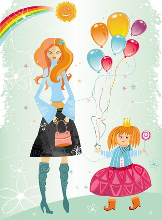 Stock Vector Illustration: Happy mothers day! Vector