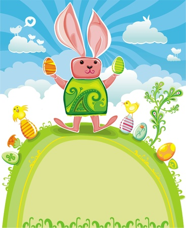 Easter greeting card.  Stock Vector - 9330052