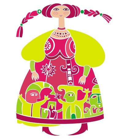 folklore: Russian girl 2  Illustration