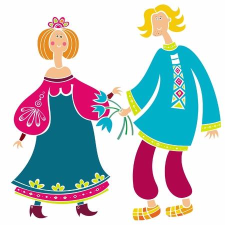 slavic: Uomo russo e una ragazza (serie)