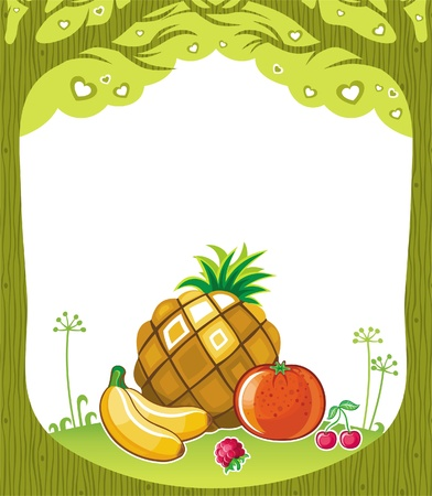 Fruity background  (fruity series) Stock Vector - 9354760