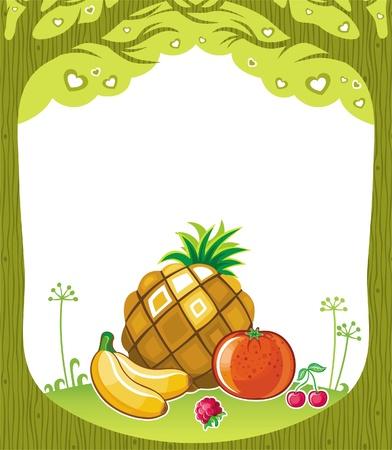 fruity: Fruity background  (fruity series) Illustration