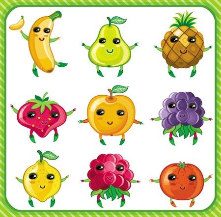 Cartoon fruits Stock Vector - 9354759