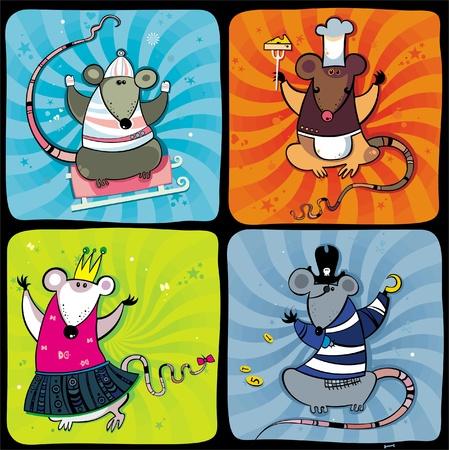 rats: Funny rats series 1  Illustration