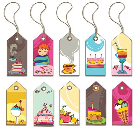 pastry shop: Sweet tags