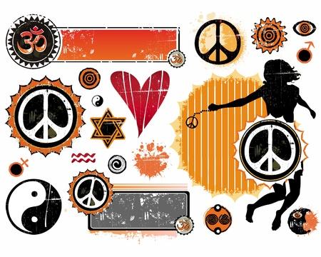 symbole de la paix: Un ensemble de symboles �sot�riques