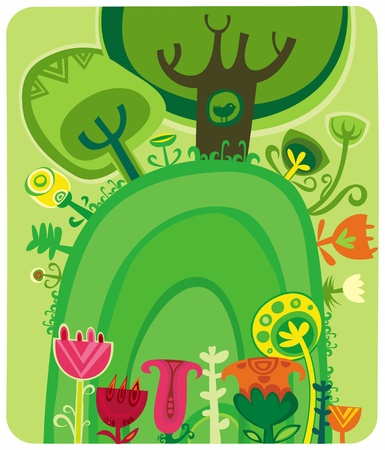 arbol de pascua: Bosque m�gico Vectores
