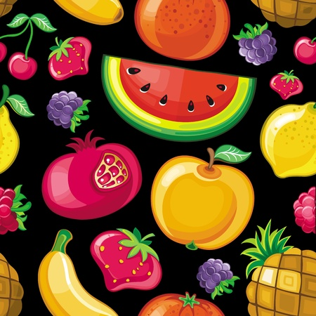 Seamless Juicy fruit texture. Vector