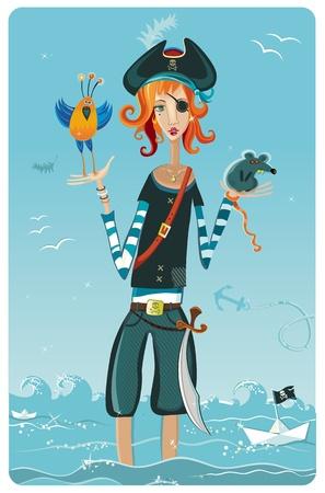 Chica pirata.