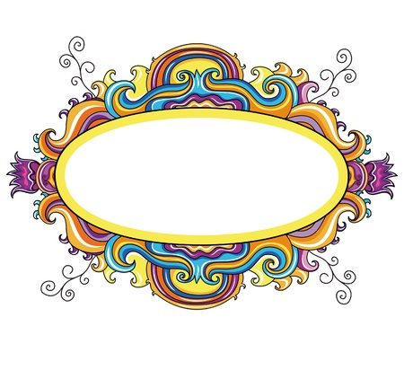 Floral curly frame Stock Vector - 9933158