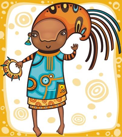 afro american nude: Ethnic girl 1.  Illustration