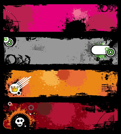 Grunge stylish banners