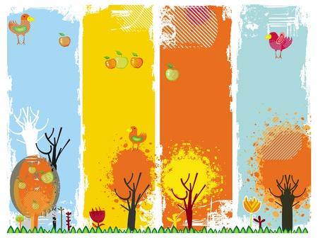 Autumn vertical banners Vector