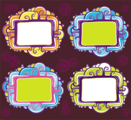 Vector set of cool design retro frames  Illustration