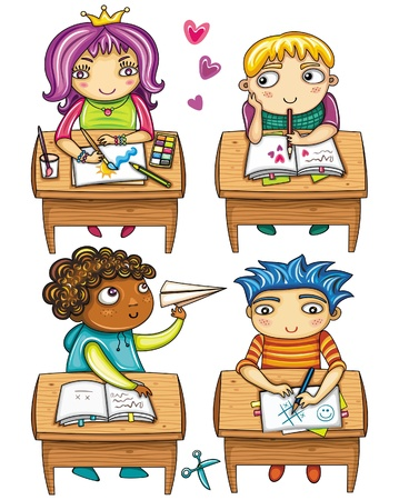 workbook: Funny schoolchildren 1