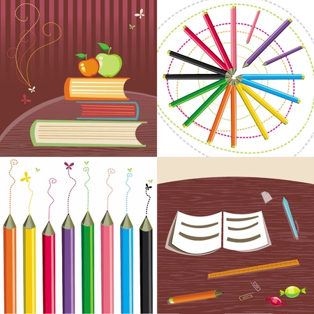 back to school set 2 Stock Vector - 10256156