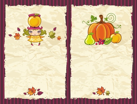 Thanksgiving grunge backgrounds  Vector