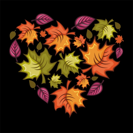thanksgiving day greetings: Autumn heart.