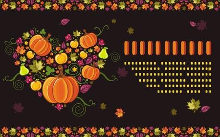 thanksgiving day symbol: Autunno stagione biglietto di auguri con spazio per il testo 8 Vettoriali