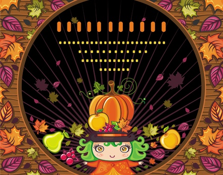 Thanksgiving holiday frame 3  Иллюстрация
