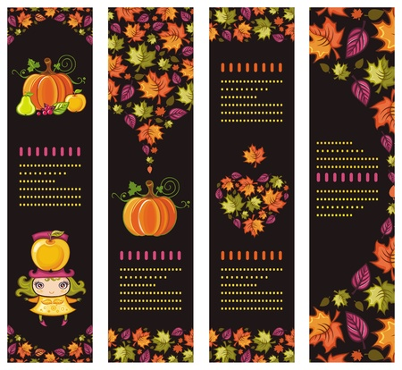 apple border: Colorful Autumnal banners 5