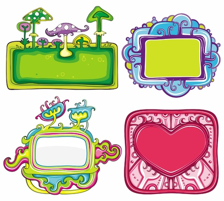 set of cute frames, with space for your text