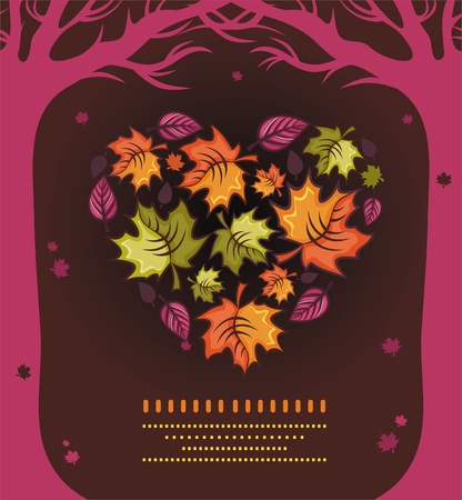 fall in love: Autumn composition 6 Illustration