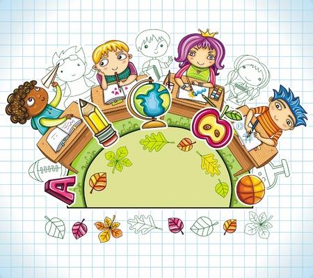 baloncesto chica: Composici�n de colores alrededor de 5 Vectores
