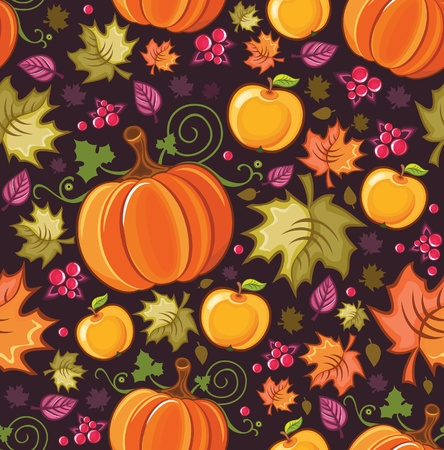 Seamless autumnal background 2  Illustration