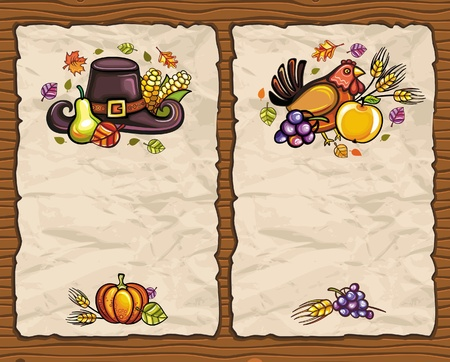 Thanksgiving paper arrangements 1 Vector