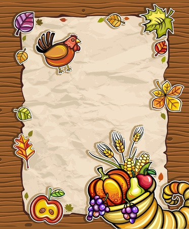 Thanksgiving paper arrangements 2 Vector