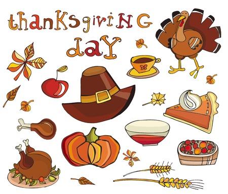 Thanksgiving day icon set Stock Vector - 10919585