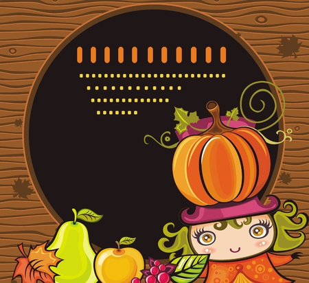 Thanksgiving holiday frame 10 Vector